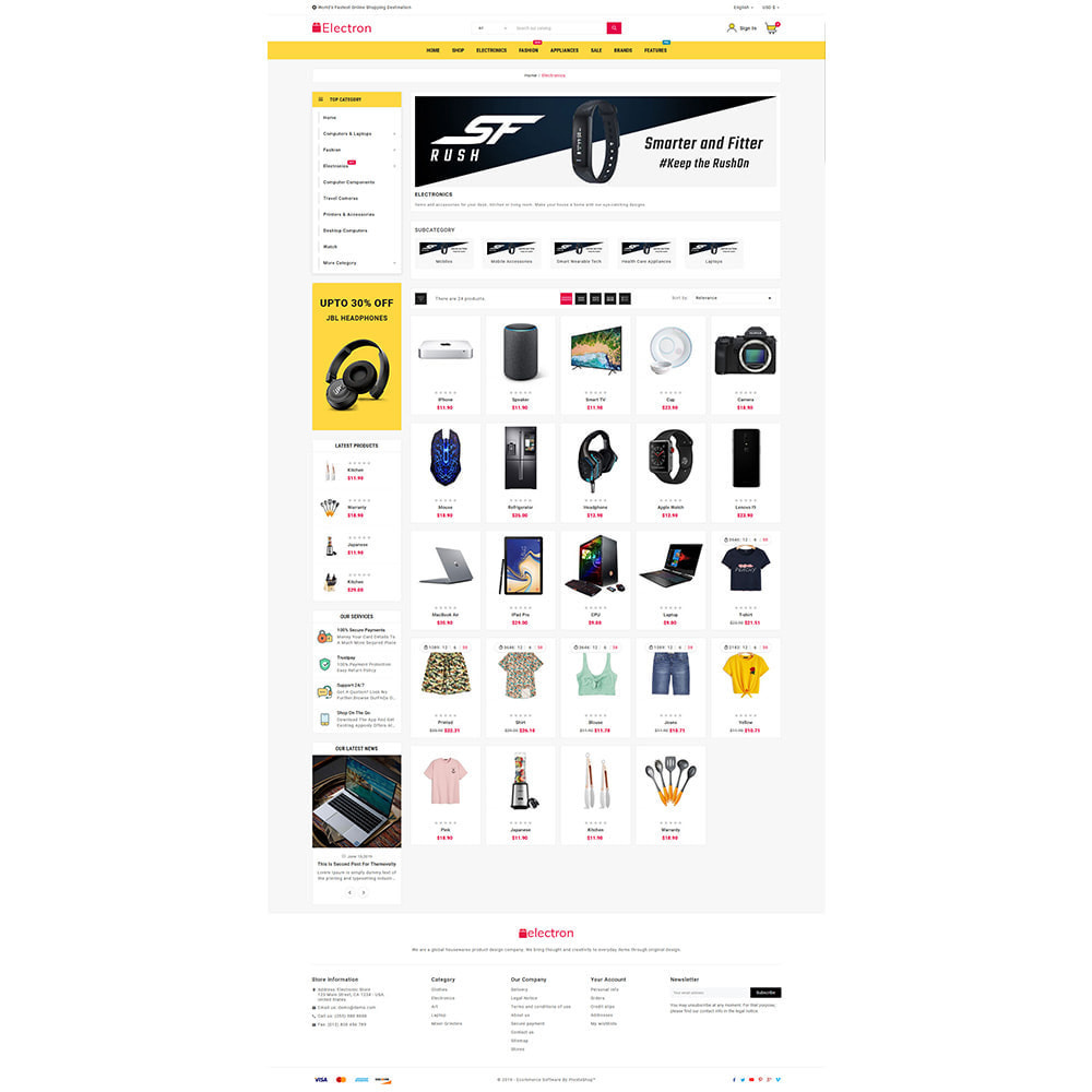 theme - Electrónica e High Tech - Electros High–Tech Gadgets–Electronics Mega Store - 4
