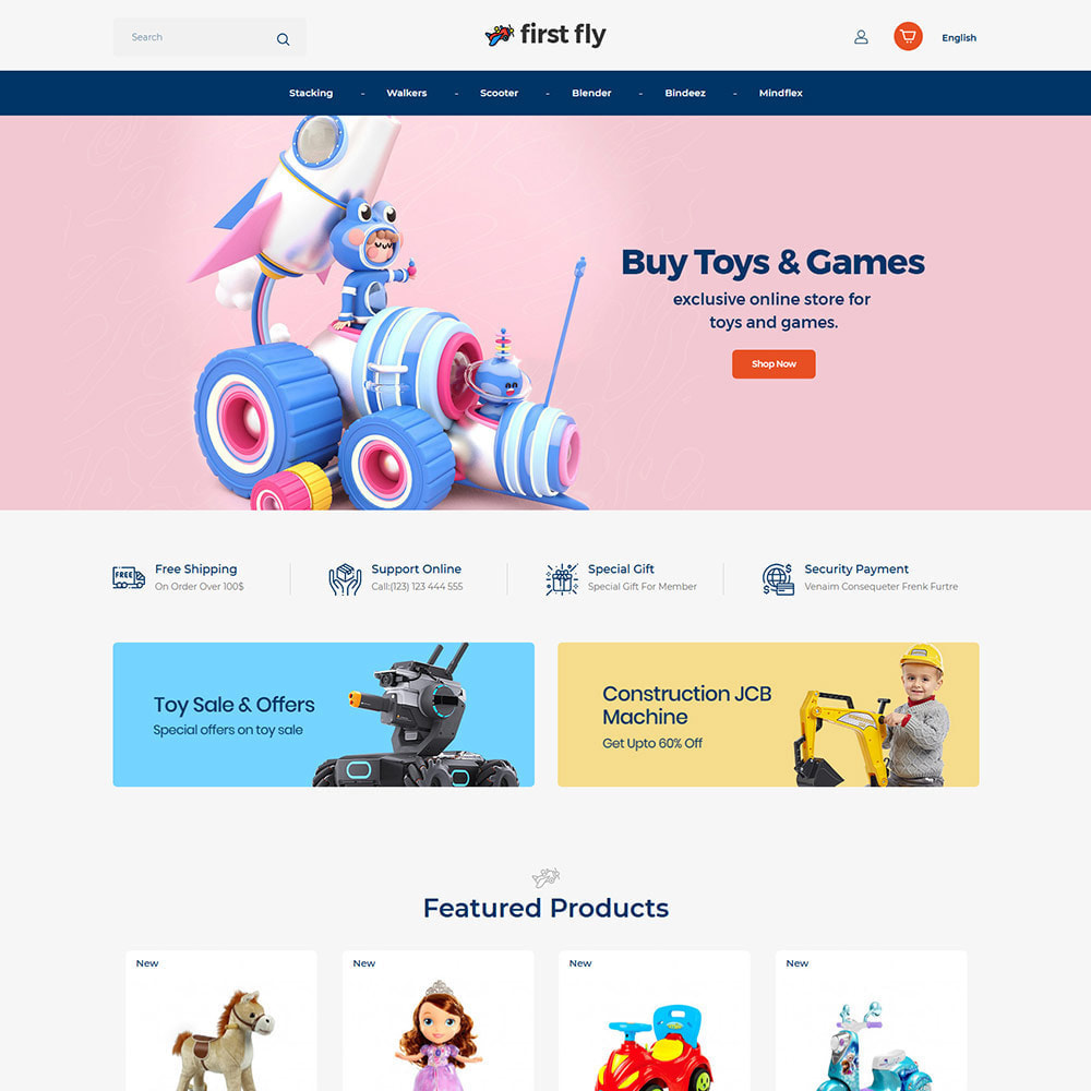 theme - Kids & Toys - First Fly Toy  - Kids walker Baby Cloth  Store - 2