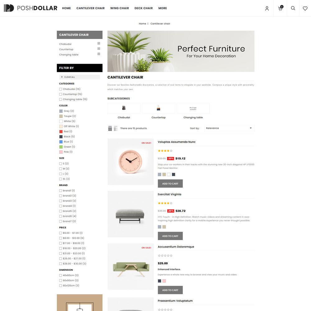 theme - Home & Garden - Poshdollar - Furniture Store - 4