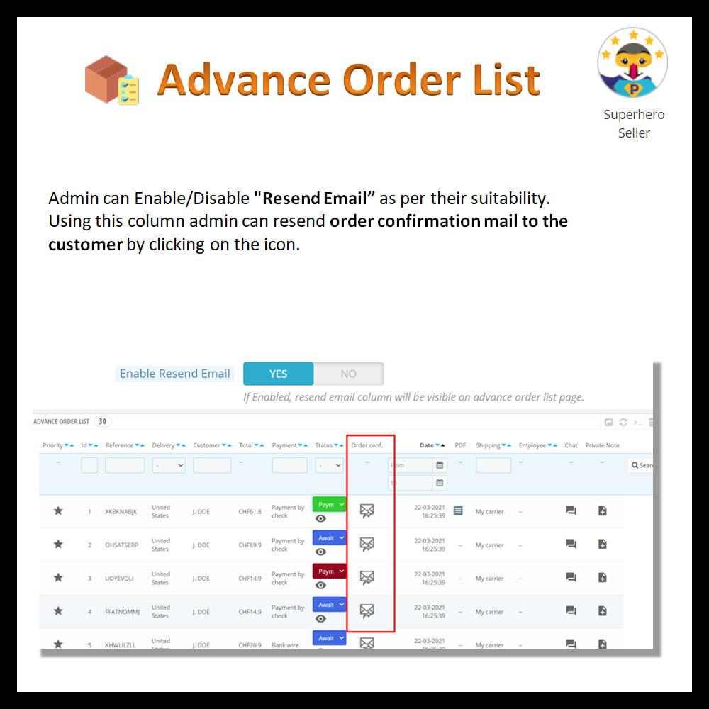 module - Order Management - Advance order list-configurable/ fast view - 11