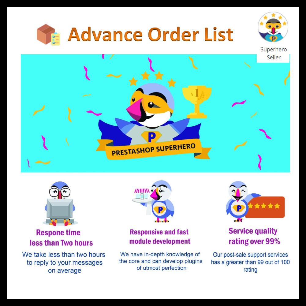 module - Order Management - Advance order list-configurable/ fast view - 20