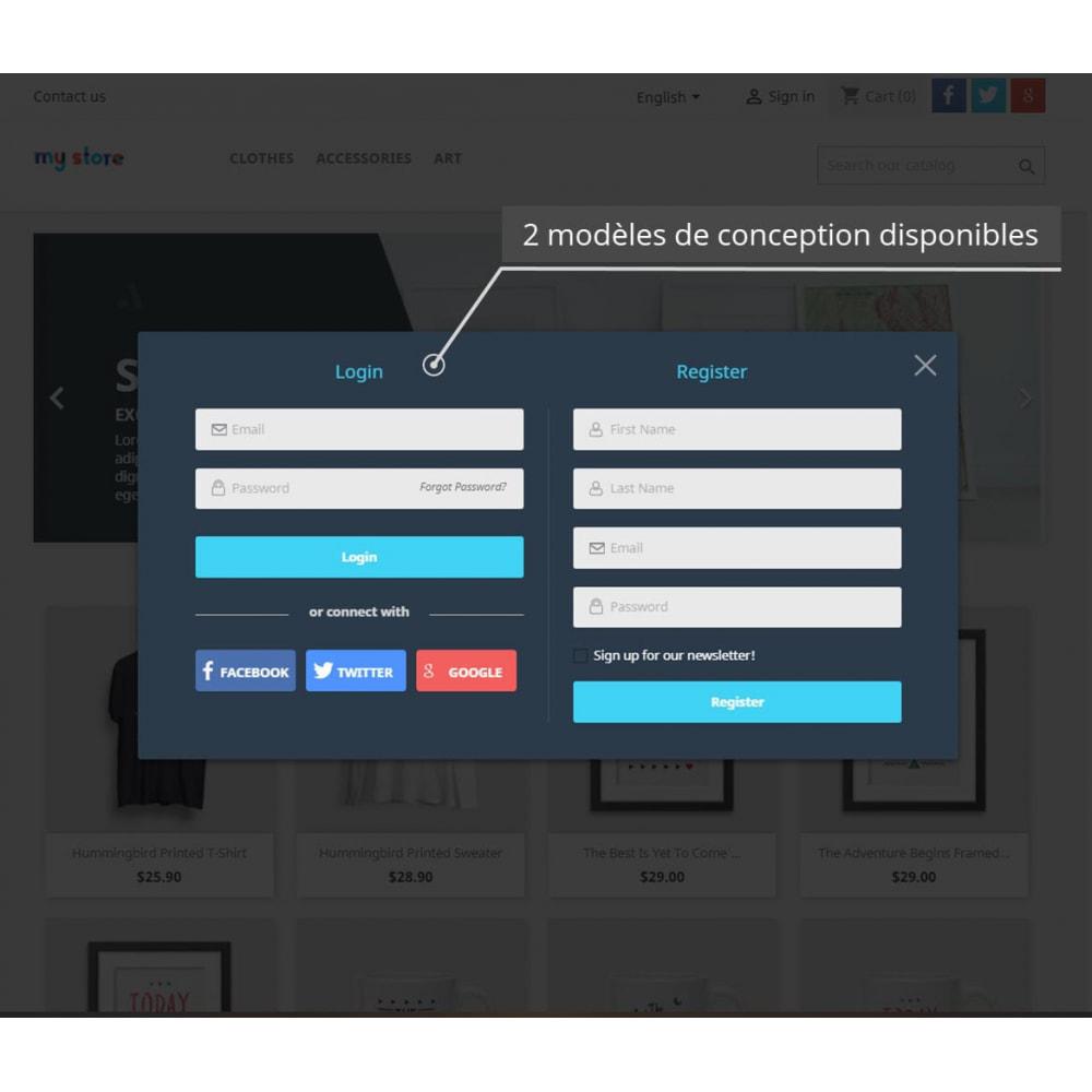 module - Boutons Login & Connect - Pack Pop Ups (10 en 1) Et La Social Connexion - 4