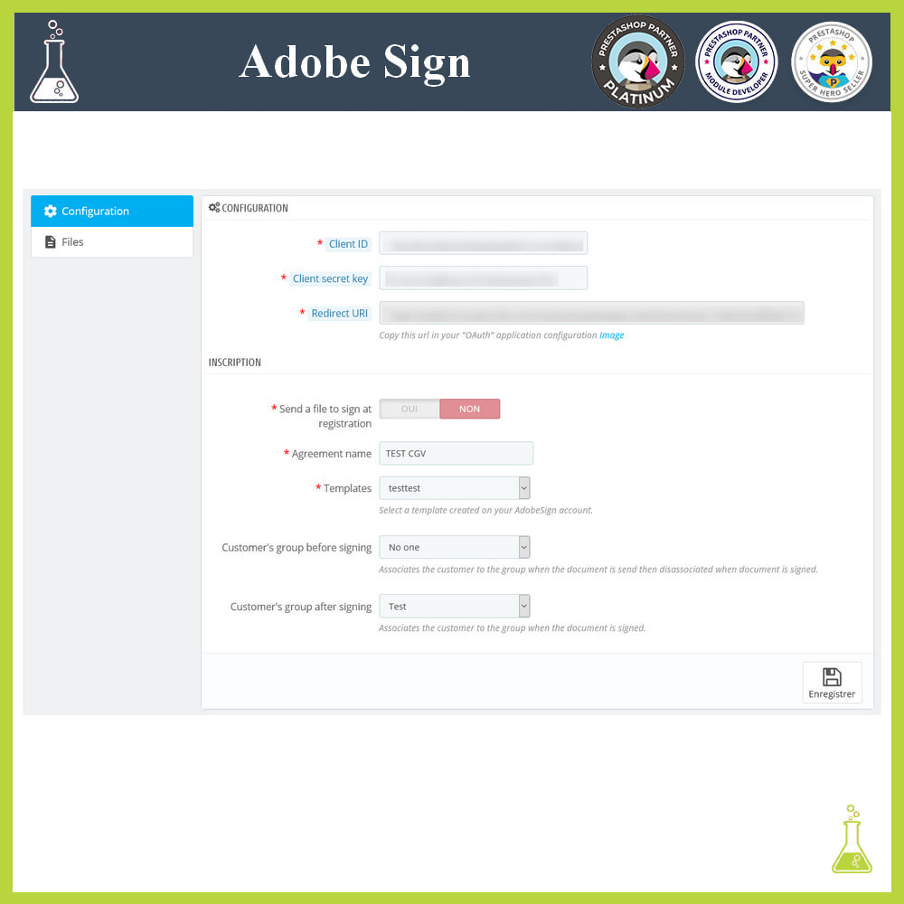 module - Administrative Tools - Adobe Sign: Electronic signatures - 1
