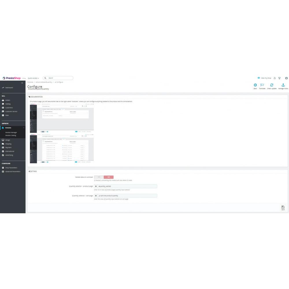 module - Additional Information & Product Tab - AllowMultipleOfQuantity - 3