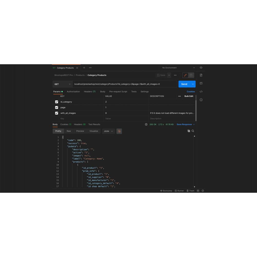 module - Website Performance - Binshops REST API - 2