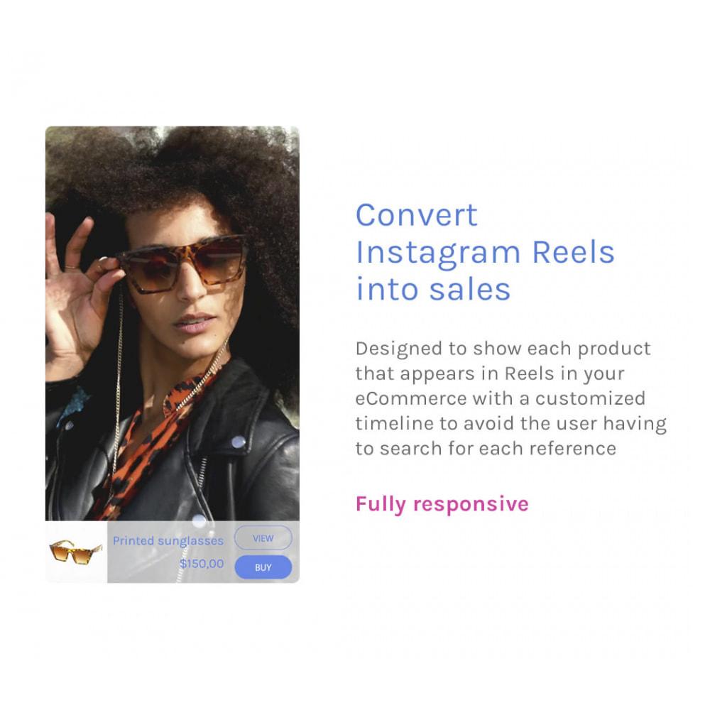module - Videos & Music - Godzilla Reels - Convert Instagram Reels into sales - 1