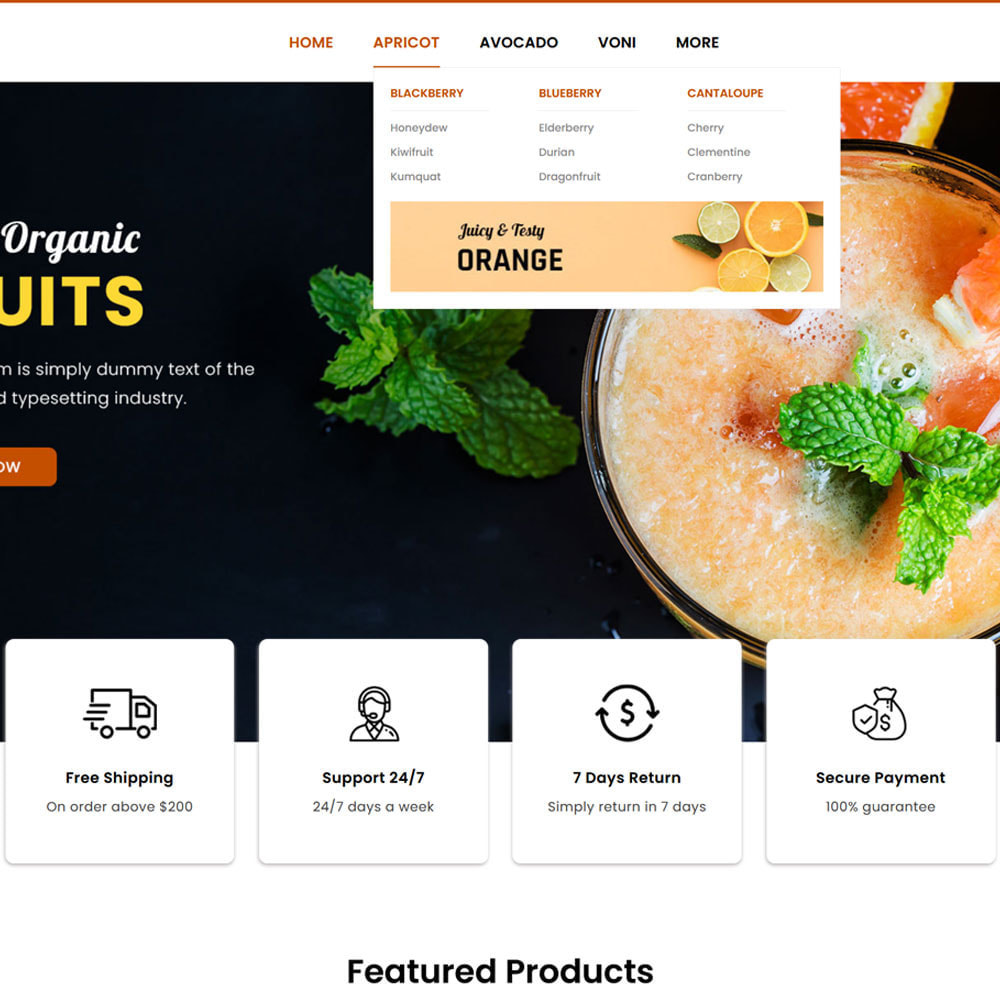 theme - Food & Restaurant - Fruitora - Fruit Shop - 6