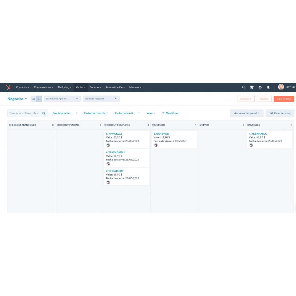 module - Remarketing & Paniers Abandonnés - Intégration du commerce électronique HubSpot - 2