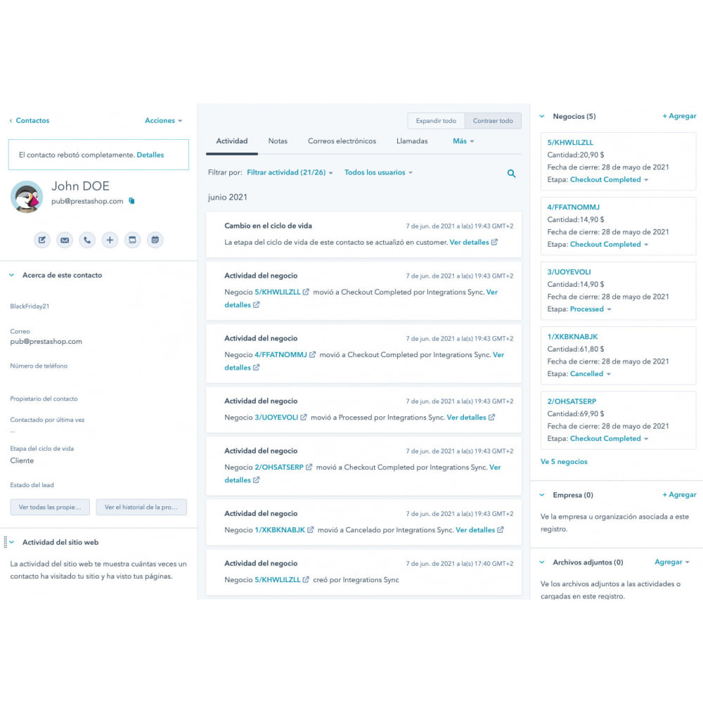 module - Remarketing & Shopping Cart Abandonment - HubSpot Integration ecommerce - 13