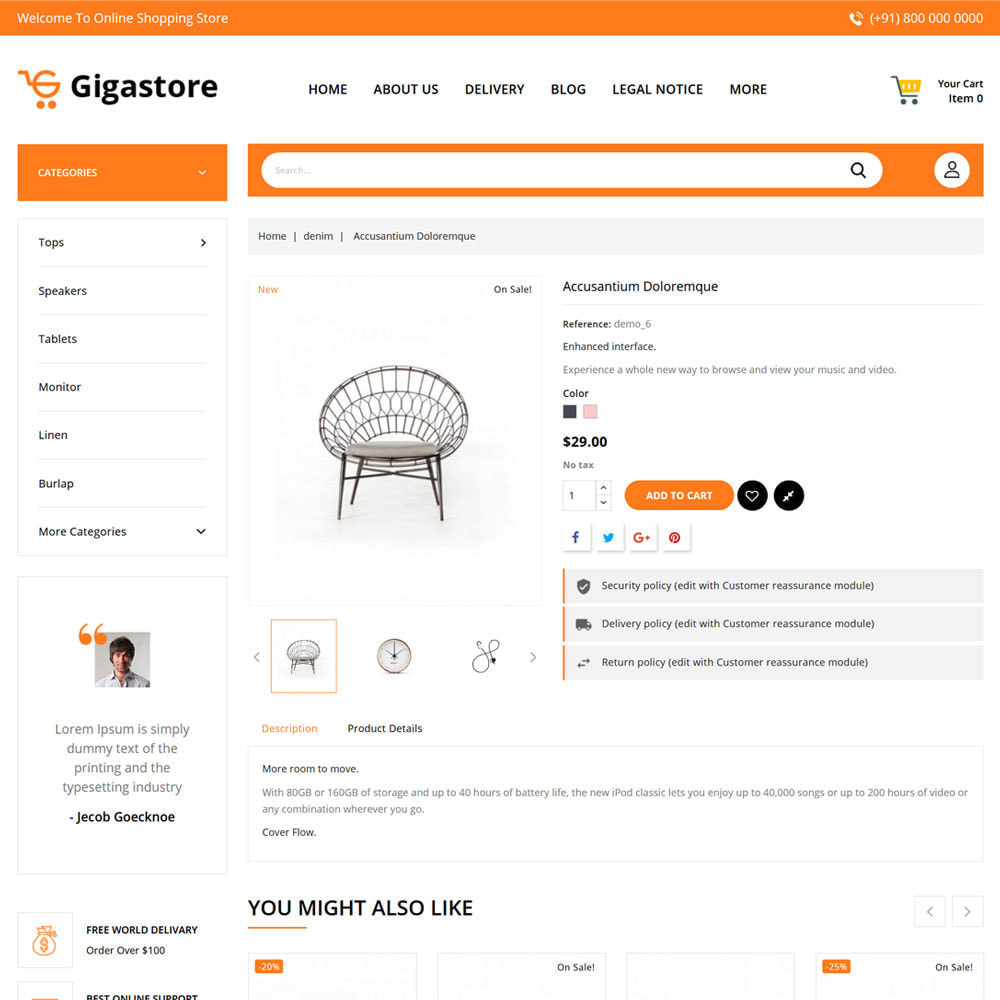 theme - Fashion & Shoes - Gigastore - Mega Store - 5