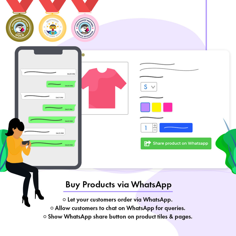 module - Support & Online Chat - Buy Products via WhatsApp - 1