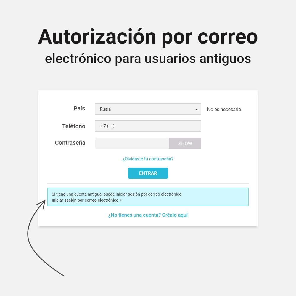 module - Botones de inicio de Sesión/Conexión - Inicio de sesión y registro por número de teléfono - 3