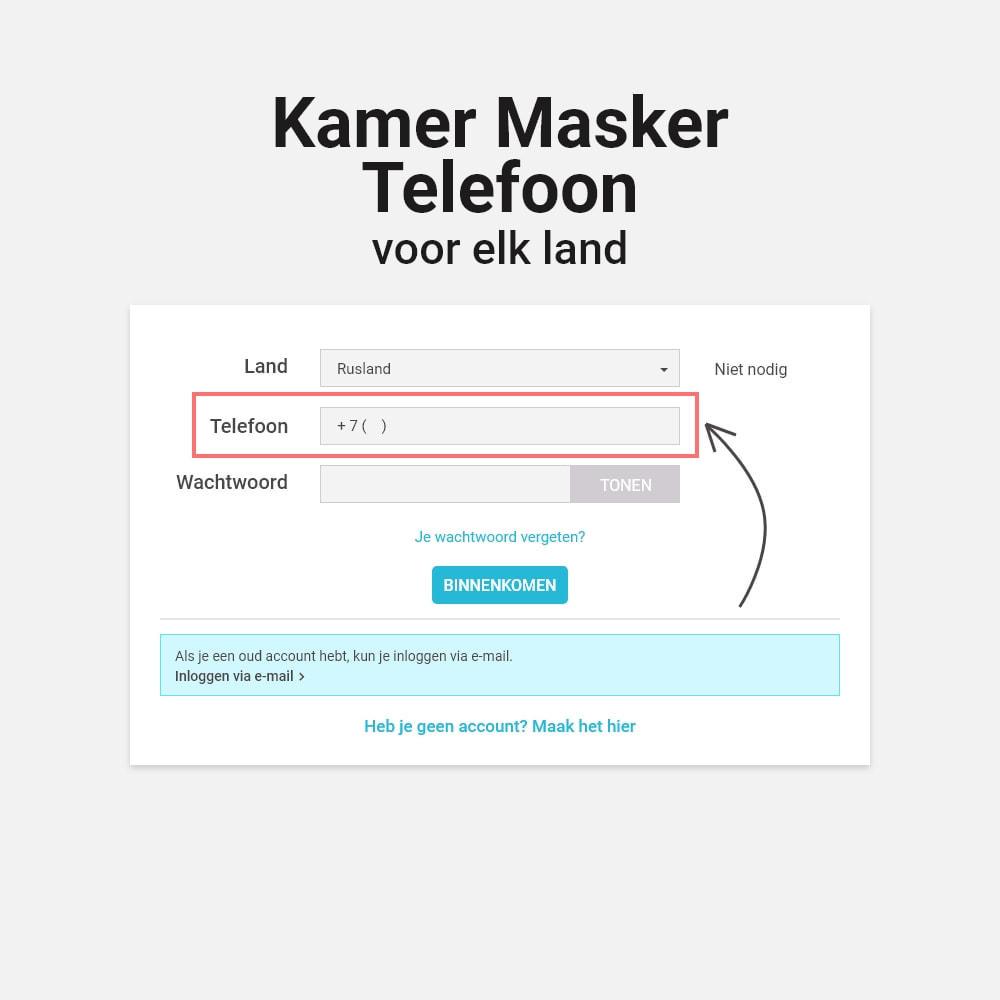 module - Inloggen - Log in en registreer op telefoonnummer - 7