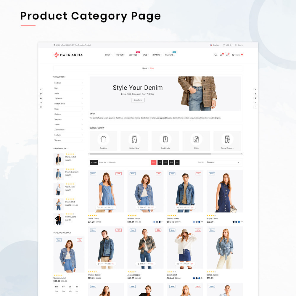 theme - Mode & Schuhe - Markauria Mega Fashion–Clothes Super Store - 3