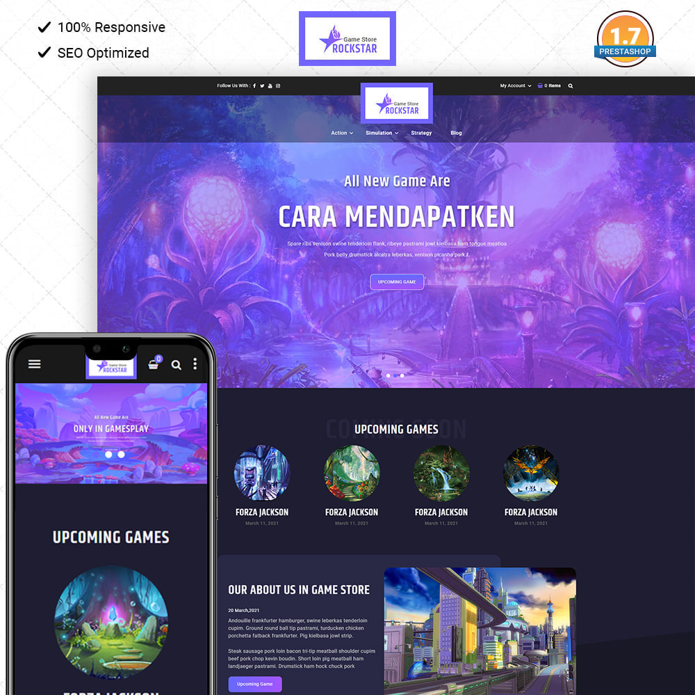 theme - Art & Culture - Rock Star - Game Store - 1