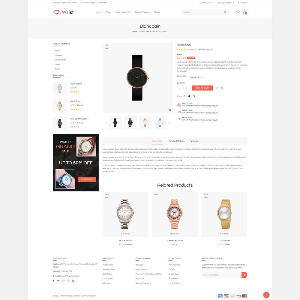 theme - Jewelry & Accessories - Wrist Watch Store - 4