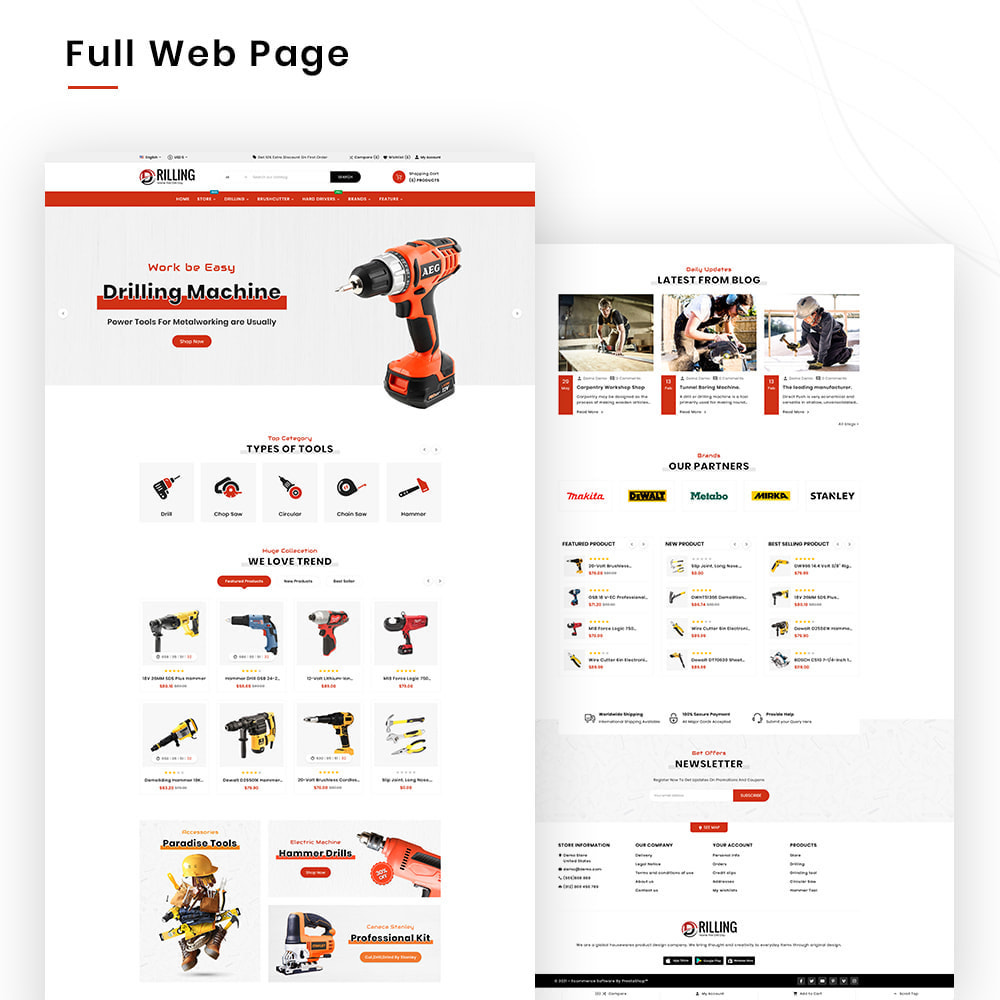 theme - Automotive & Cars - Drilling Mega SparePart–Car and Machine–Tools Store - 2