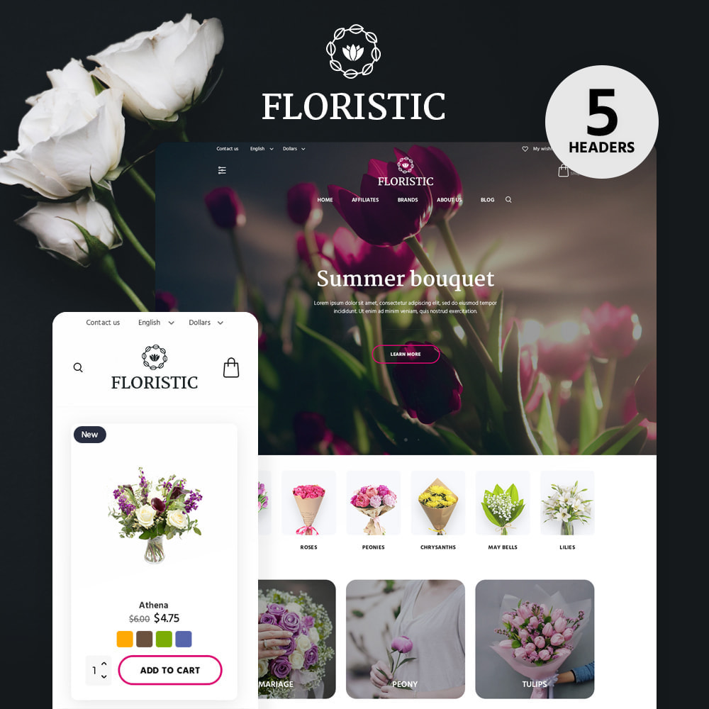 theme - Gifts, Flowers & Celebrations - Floristic - 1