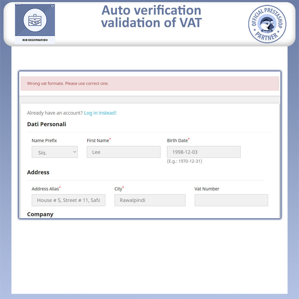 module - Registration & Ordering Process - B2B Registration - 6