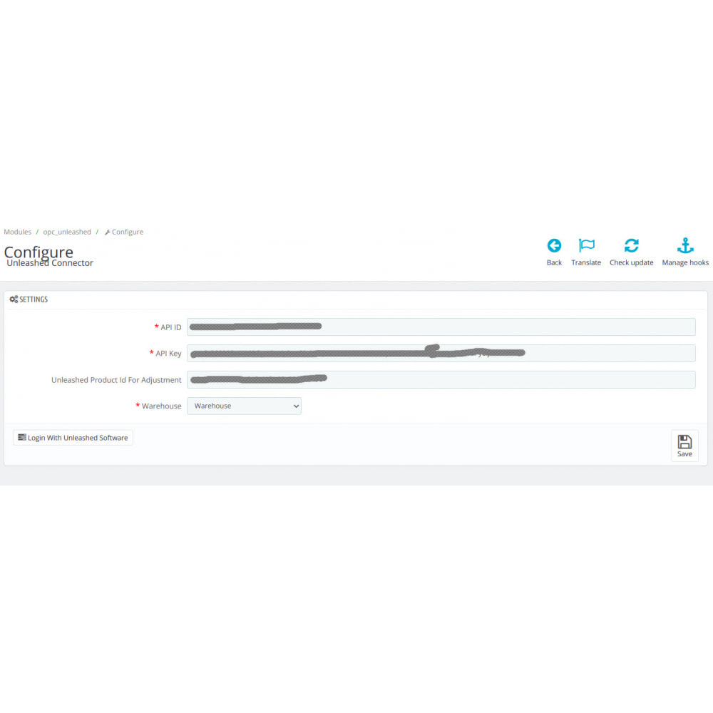 module - Third-party Data Integration (CRM, ERP...) - Unleashed Connector - 1