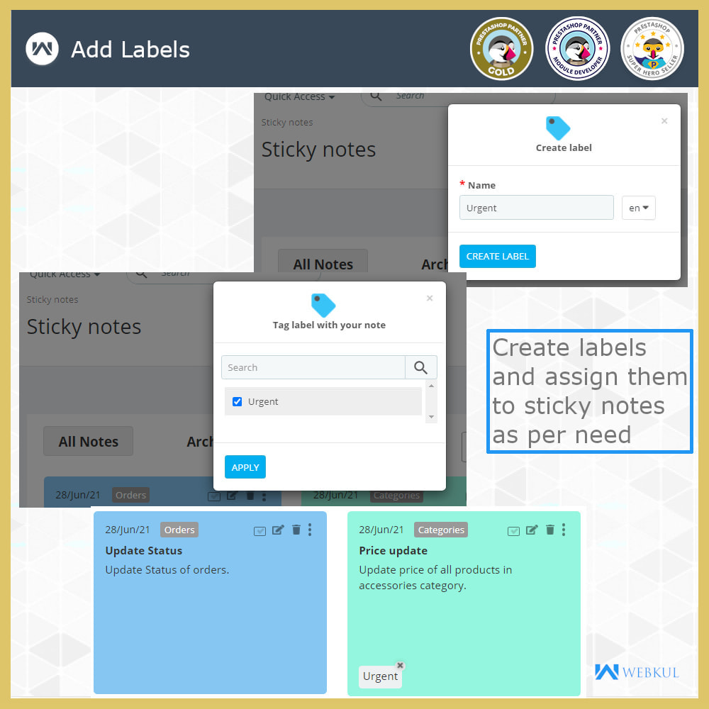 module - Notifications & Automatic Emails - Sticky Notes for Orders and Categories - 8