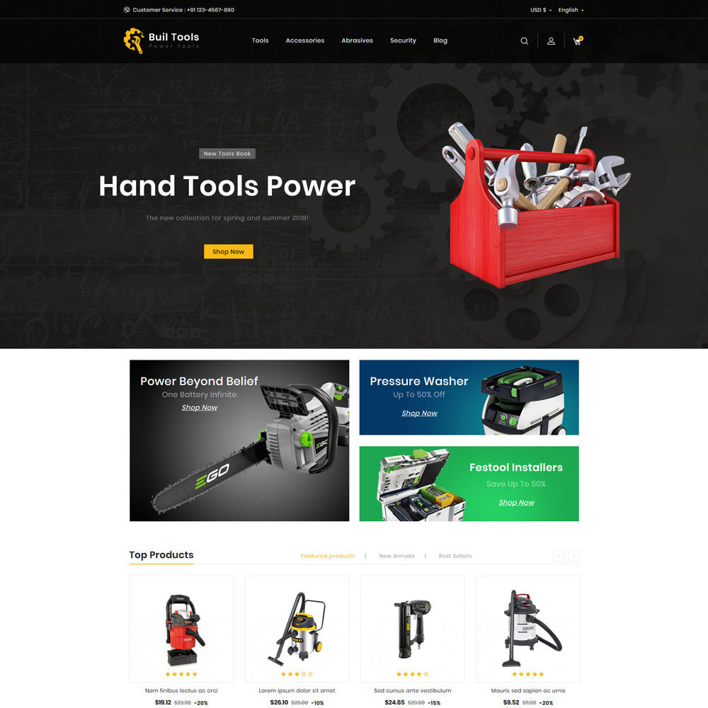 theme - Home & Garden - Buil - Tool Store - 1