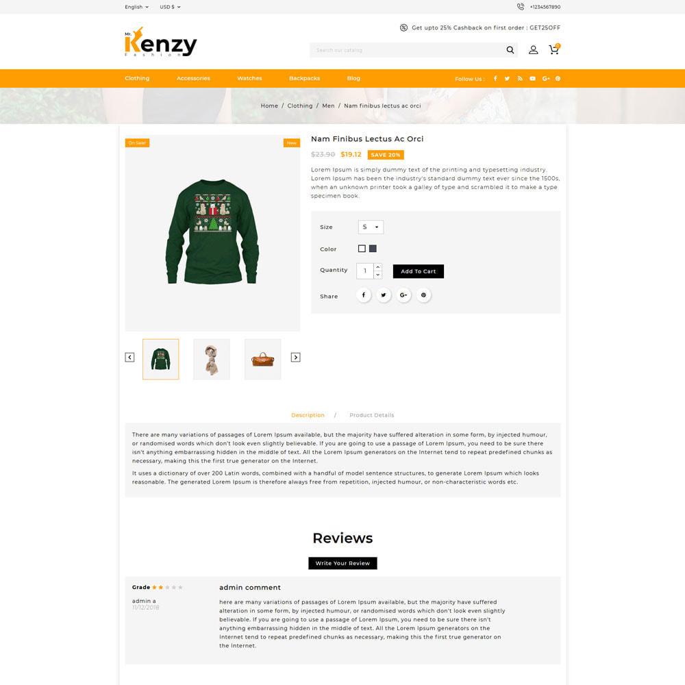 theme - Fashion & Shoes - Kenzy - Fashion Shop - 4