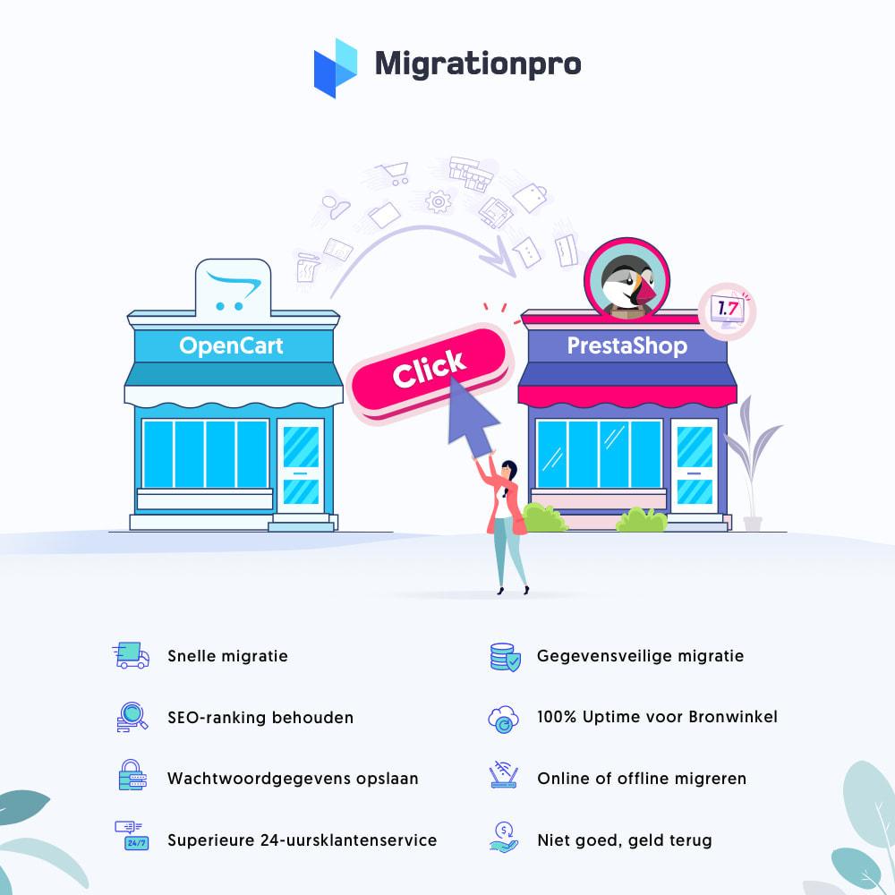 module - Migratie & Backup - OpenCart naar PrestaShop migratie tool - 1