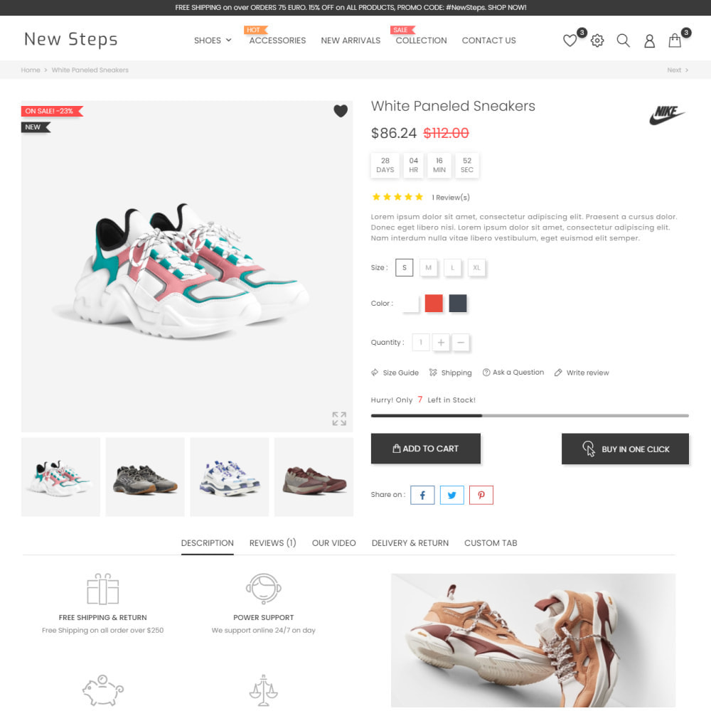 theme - Fashion & Shoes - New Step - Fashion & Shoes, Jewelry, Clothes, Bags - 6