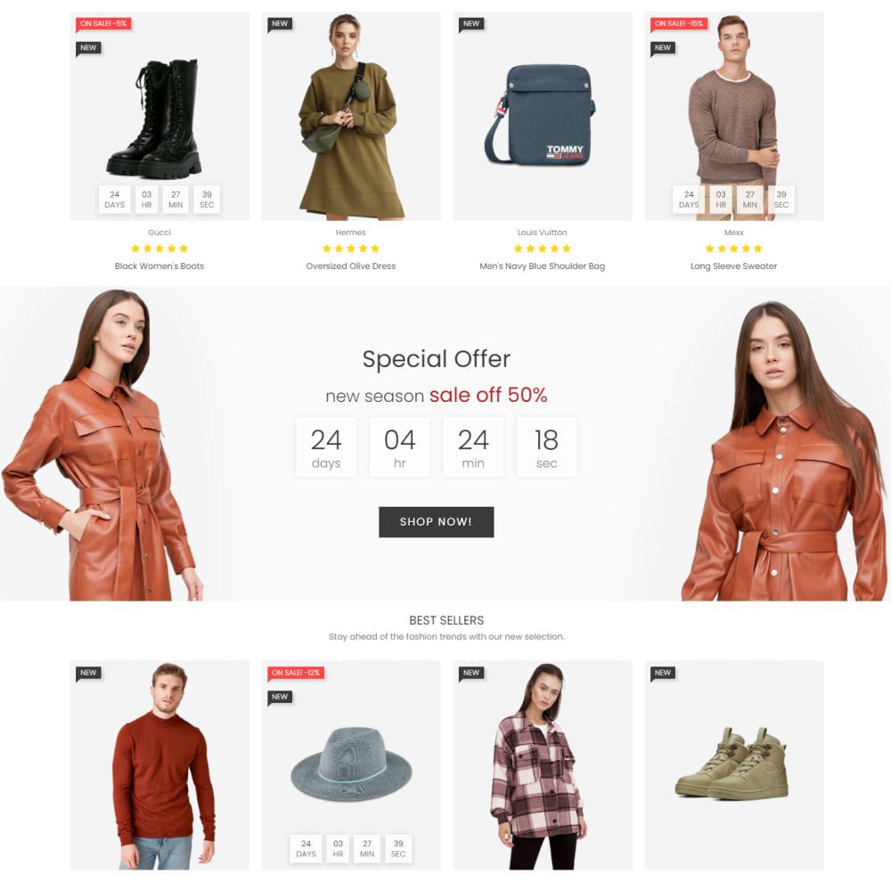 theme - Mode & Chaussures - Fashion House - Clothes & Shoes, Jewelry & Watch, Bags - 3