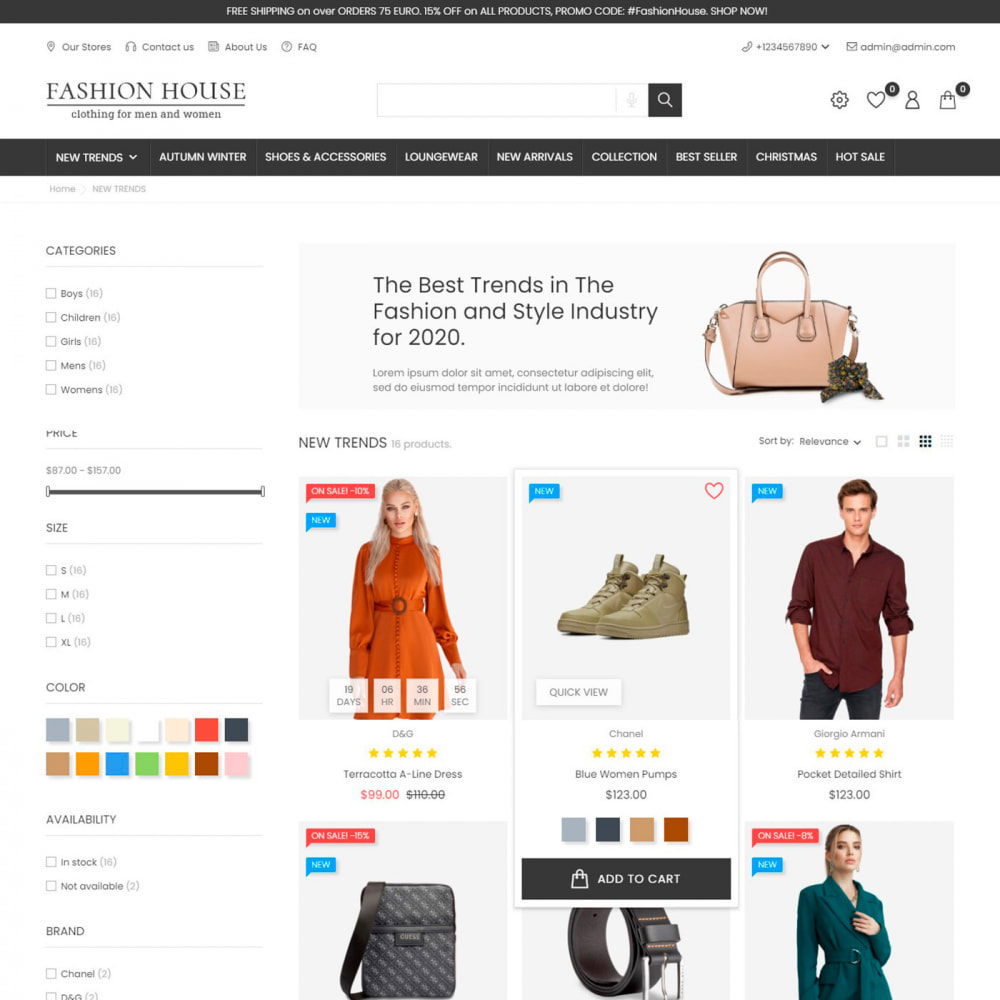 theme - Mode & Chaussures - Fashion House - Clothes & Shoes, Jewelry & Watch, Bags - 5