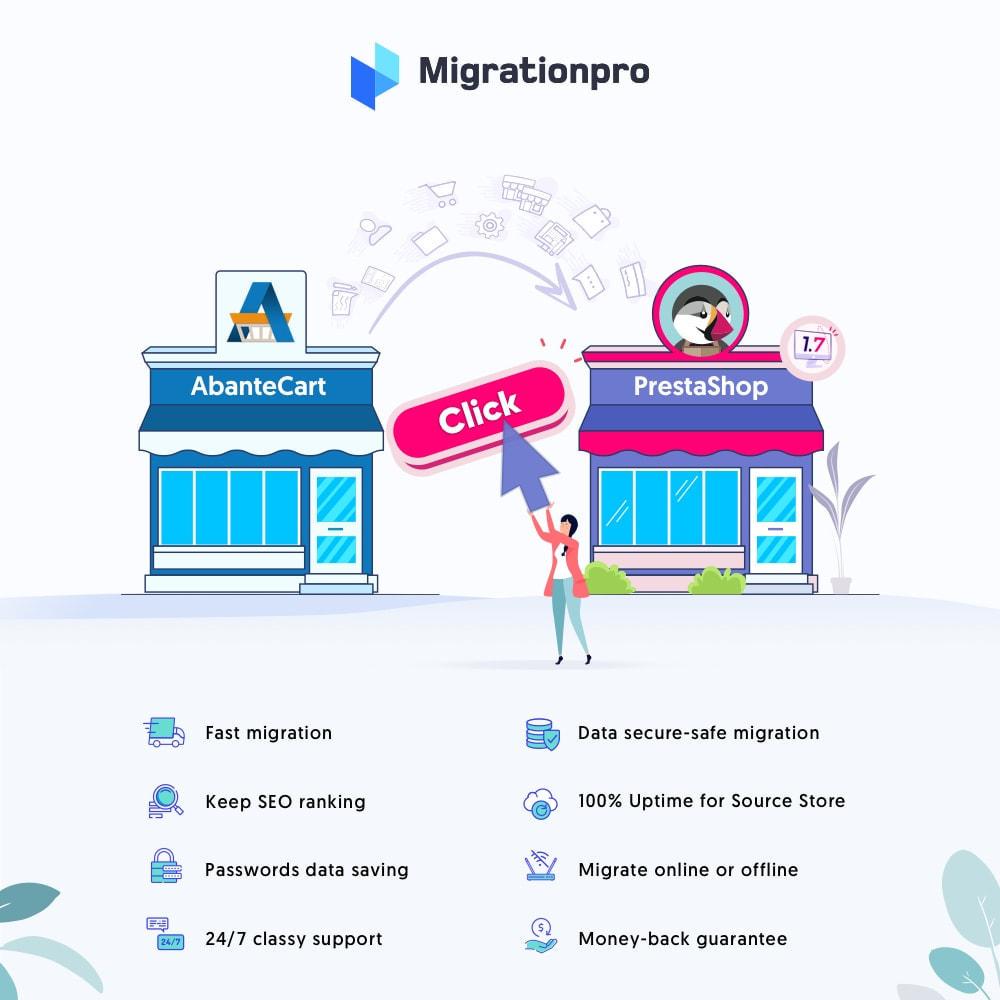 module - Migration de Données & Sauvegarde - MigrationPro: AbanteCart to PrestaShop Migration tool - 1