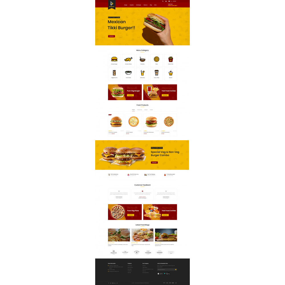 theme - Food & Restaurant - Wowburg - Burger Store - 2