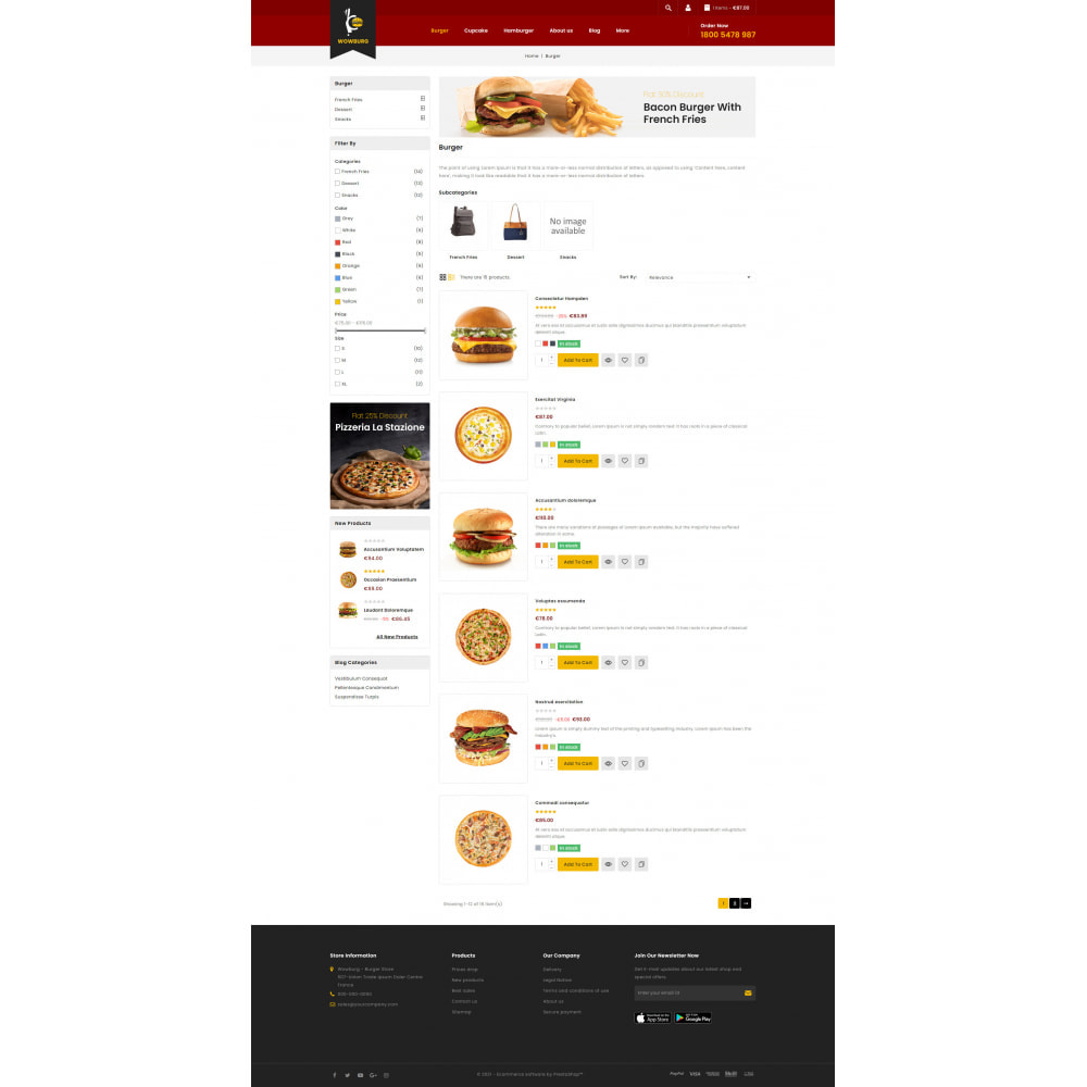 theme - Food & Restaurant - Wowburg - Burger Store - 4