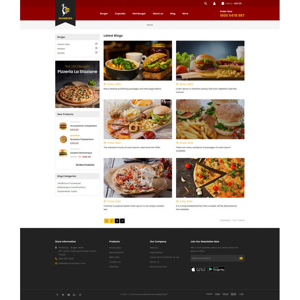 theme - Food & Restaurant - Wowburg - Burger Store - 9