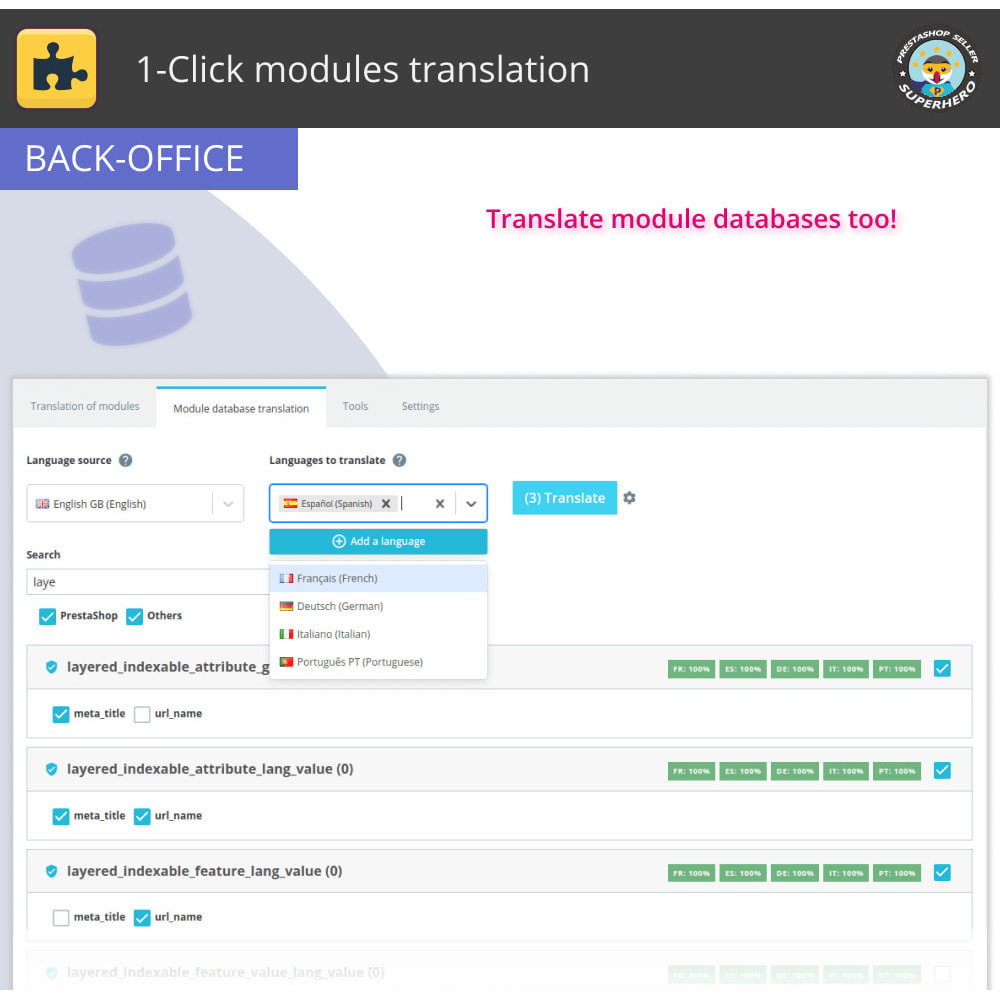 module - International & Localization - 1-Click modules translation - 5
