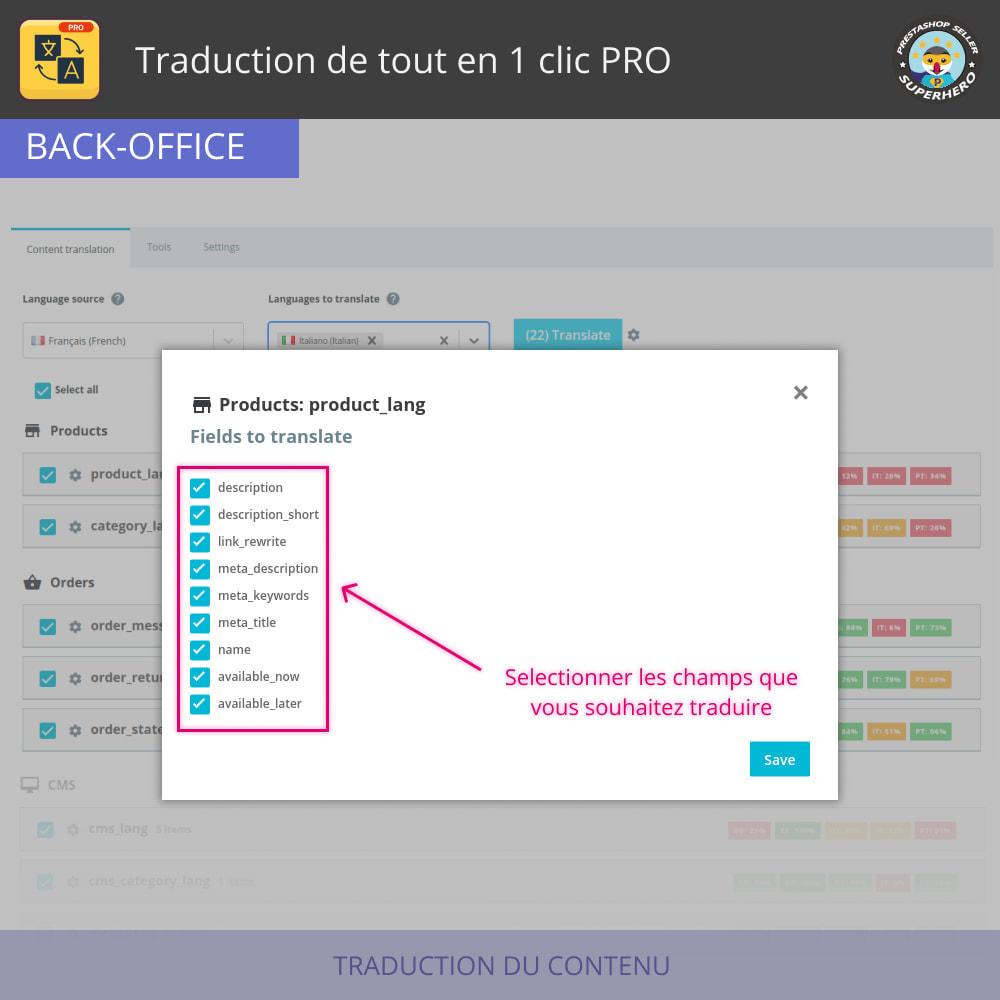 module - International & Localisation - Traduction de tout en 1 clic PRO - 4
