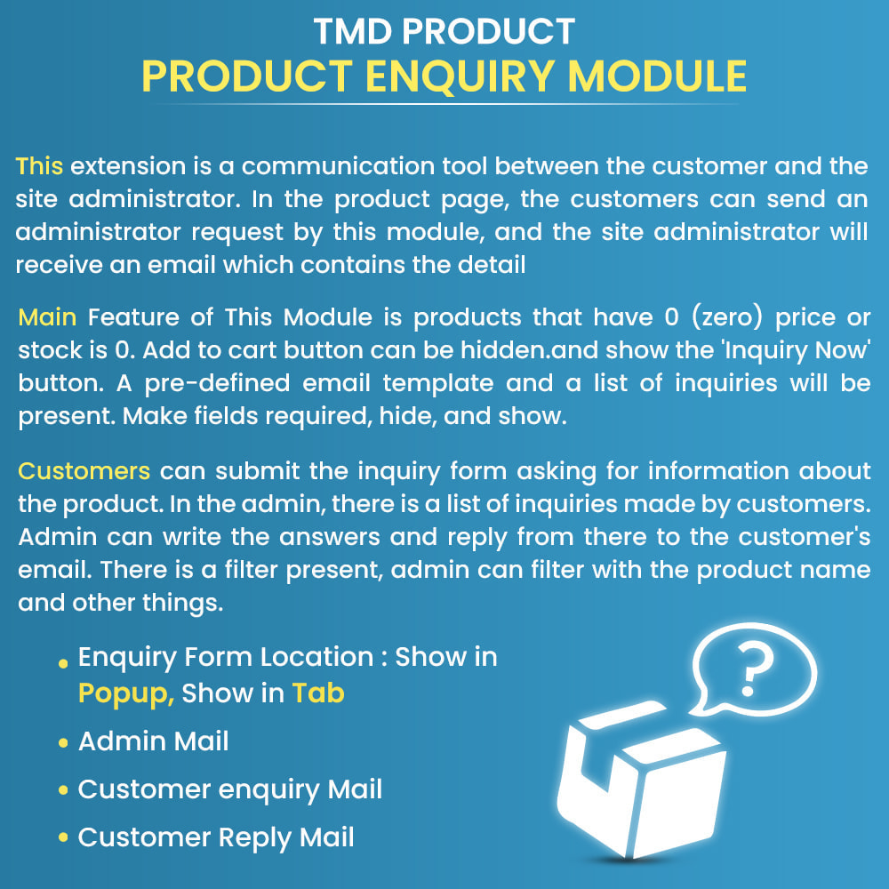 module - Administracja - Product Enquiry - 1