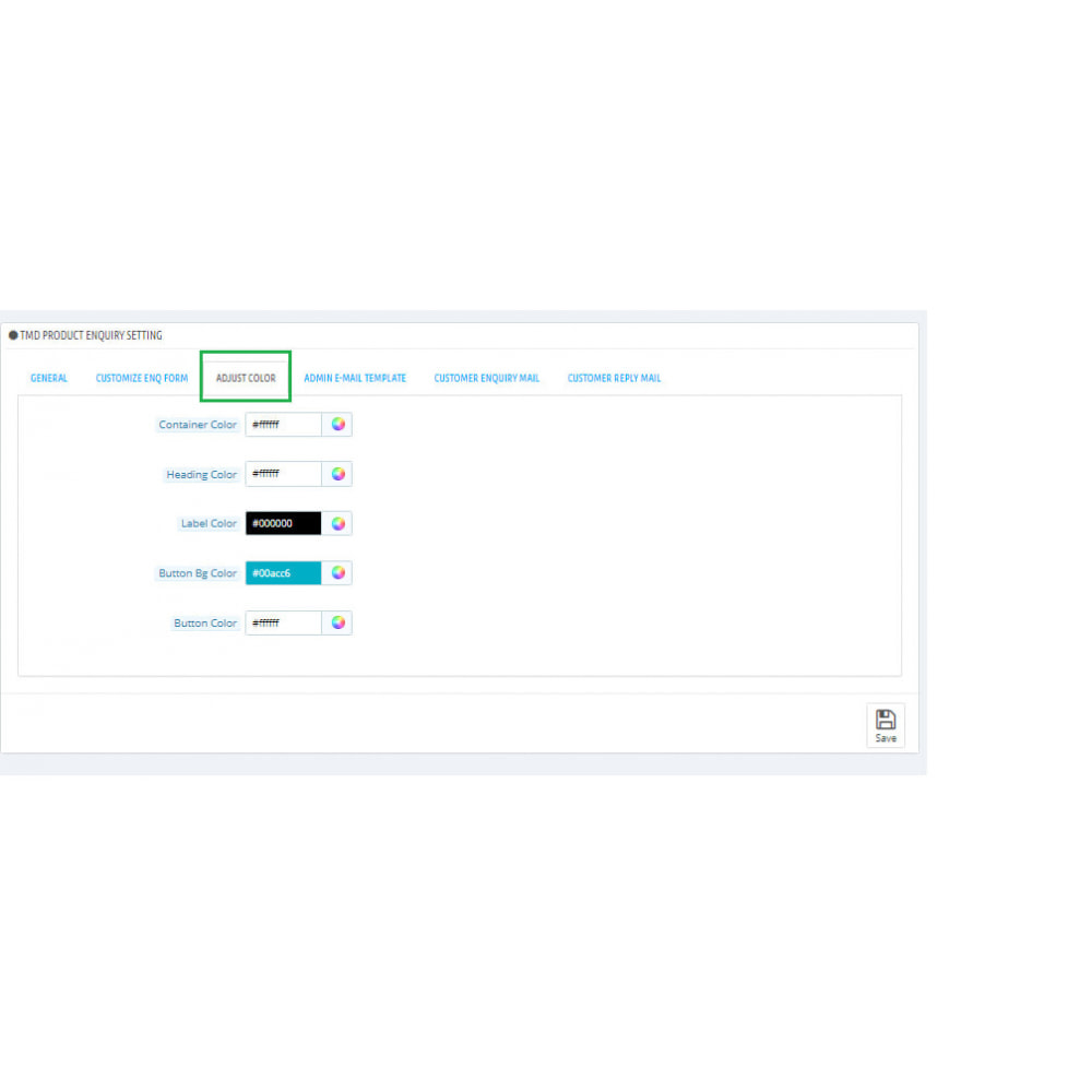 module - Administração - Product Enquiry - 4