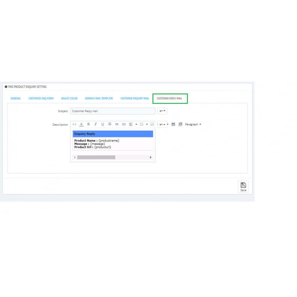 module - Administration - Enquête sur un produit - 6