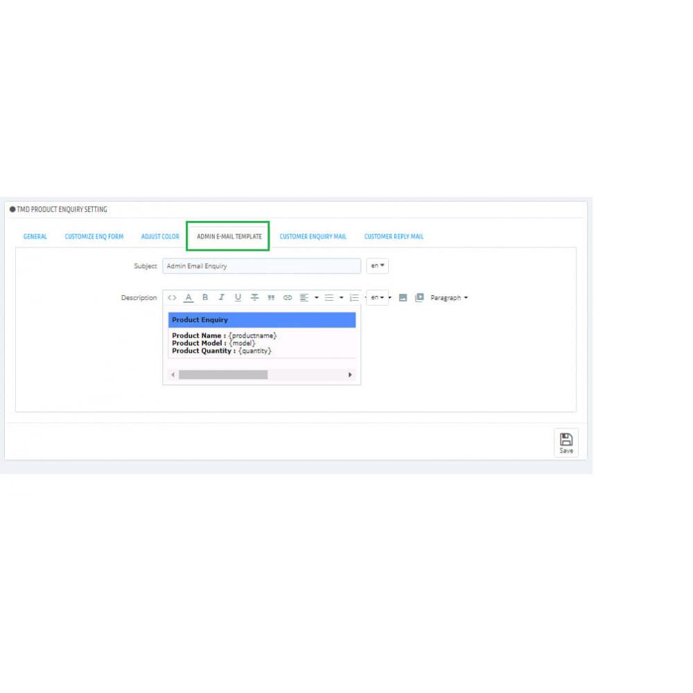 module - Amministrazione - Product Enquiry - 4