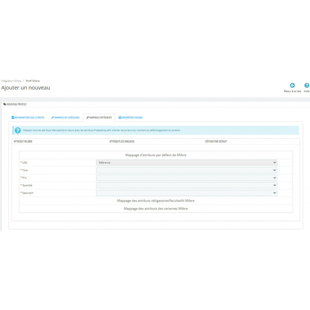 module - Connexion à un logiciel tiers (CRM, ERP...) - Intégration CedCommerce MercadoLibre - 8