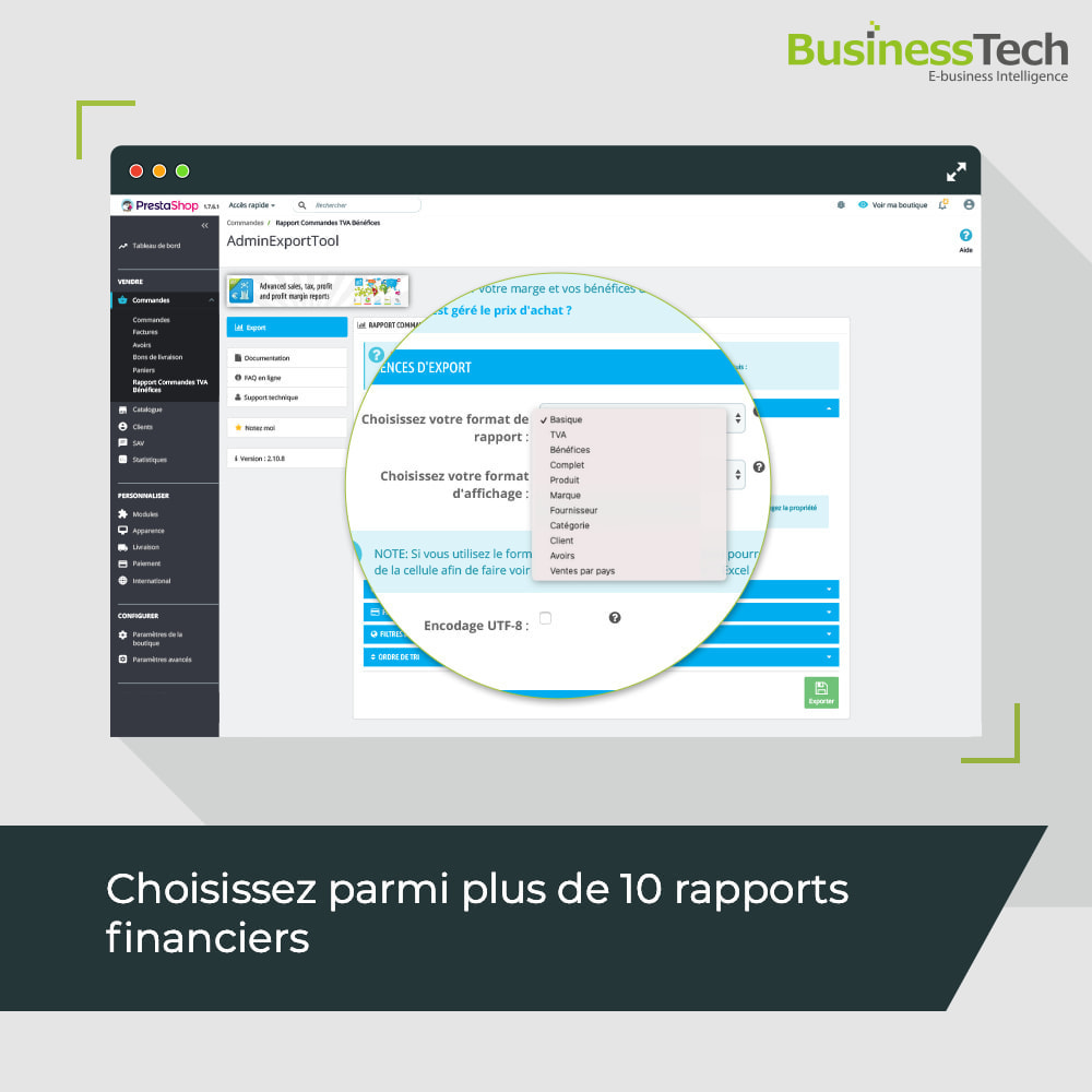 module - Analyses & Statistiques - Sales Reports Pro: Rapports ventes & Exports comptables - 2
