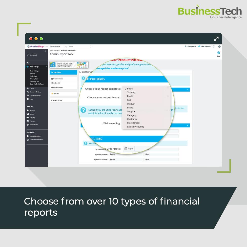 module - Статистика и анализ - Sales Reports Pro - Accounting Exports - 2