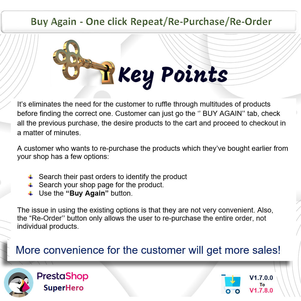 module - Bestelproces - Buy Again- One click Repeat/Re-Purchase/Re-Order - 1