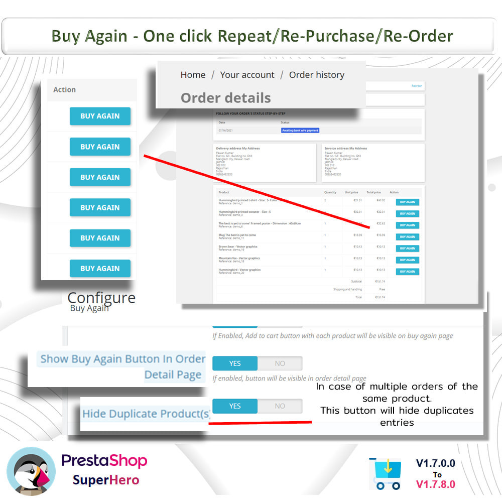 module - Bestelproces - Buy Again- One click Repeat/Re-Purchase/Re-Order - 7