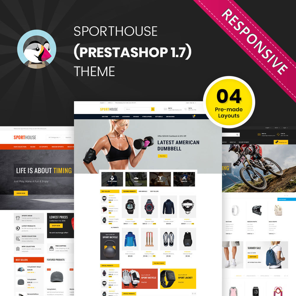 theme - Sports, Activities & Travel - Sport House Online Sports Store - 1