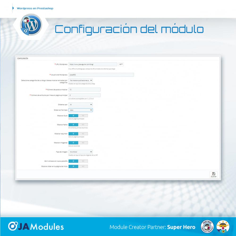 module - Blog, Foro y Noticias - WordPress Integración - 4