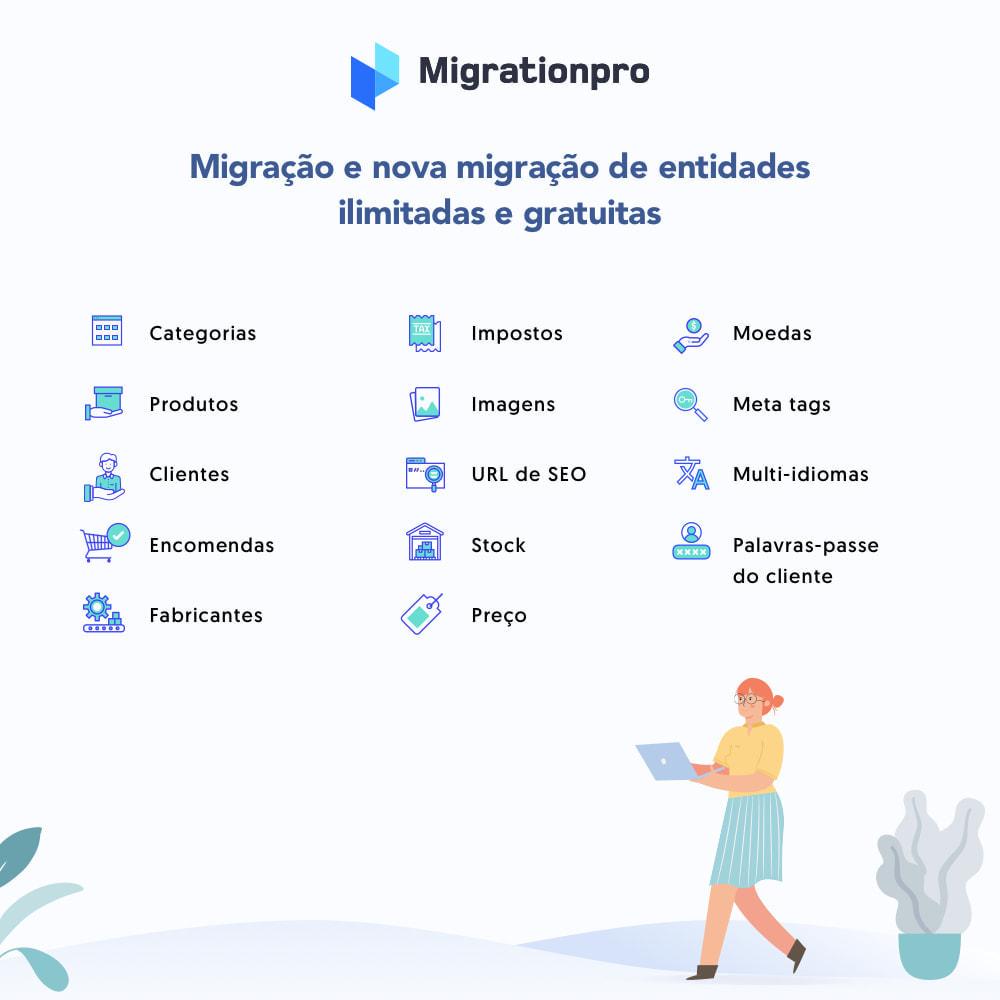 module - Migração de Dados & Registro - Ferramenta de Migração de Zen Cart para PrestaShop - 2