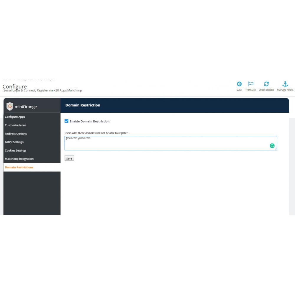 module - Social Login & Connect - Social Login & Connect, Register via +20 Apps,Mailchimp - 11